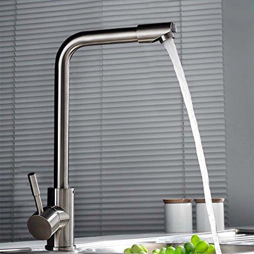 Auralum® 360°Schwenkbar Wasserhahn Spültischarmatur Edelstahl Mischbatterie Armatur Küchearmatur für Küche Waschbecken