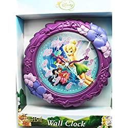 Wall Clock Disney Fairies Tinker Bell and Friends Violet Floral Kids