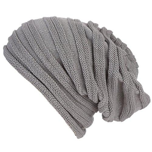 XRDSS - Gorro de punto - para hombre gris oscuro