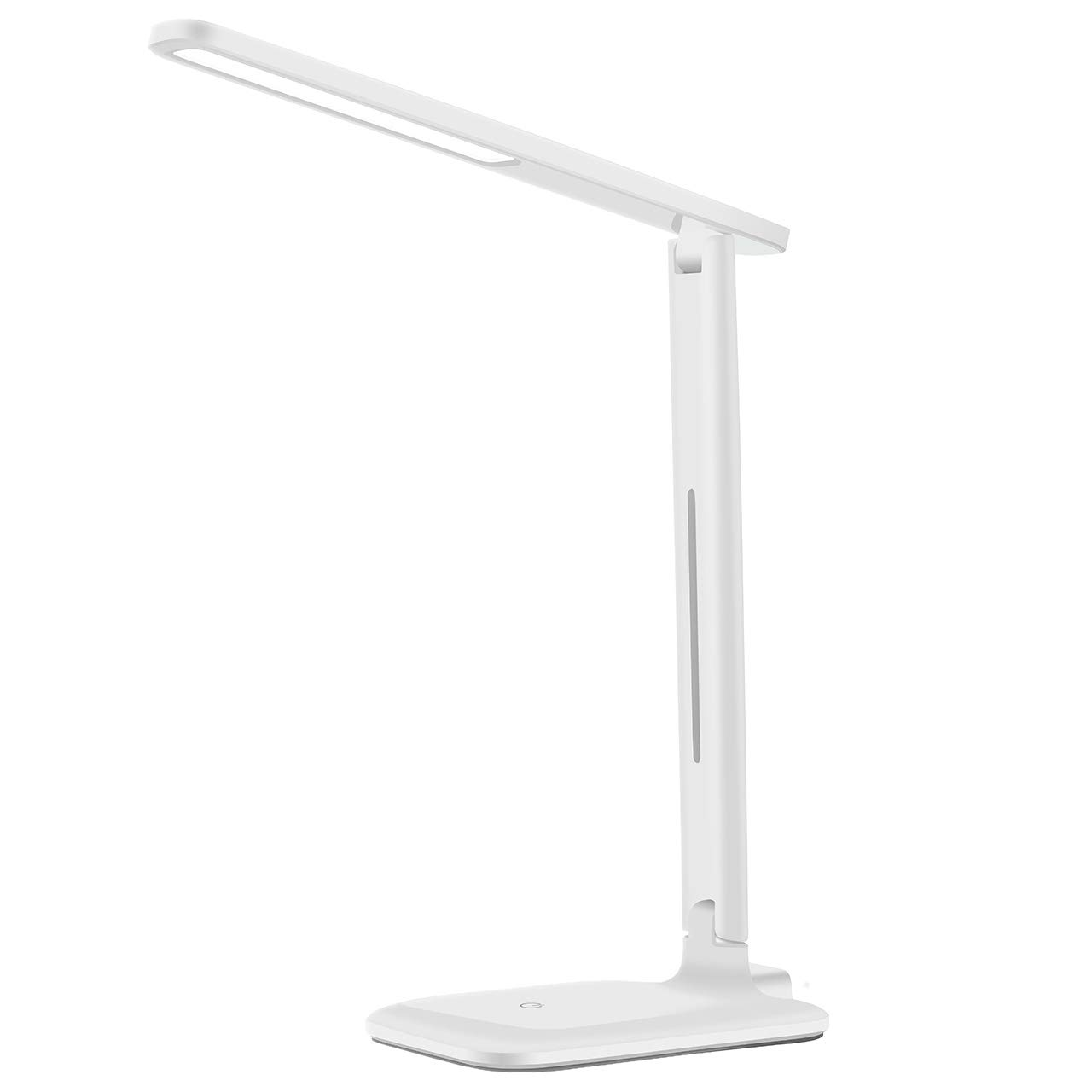 Yantop LED Desk Lamp, Eye-Caring Table Lamp, Dimmable Office Study Computer Desk Lamp, Touch Control, Memory Function, 9 Brightness Light, Foldable LED Lamp for Reading, Studying,Working,White