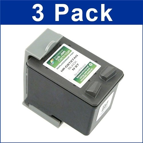 Remanufactured Ink Cartridge Replacement for HP 27 (3 Black 3 Pack) Photo #3