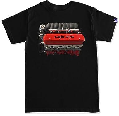 Amazon com: R Built Men's Lsx 376 Engine T Shirt: Clothing