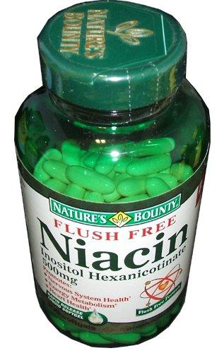Nature's Bounty Flush Free Niacin 500 mg, 200 softgels