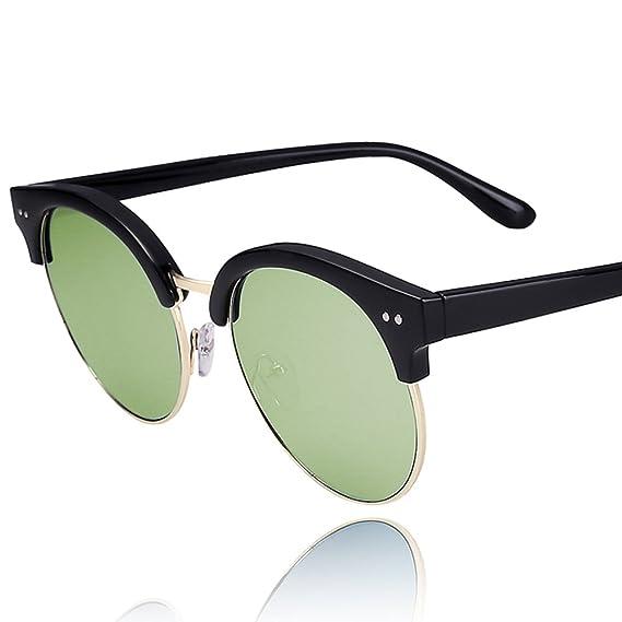 Grand châssis rond miroir/Lunettes de soleil polarisées/Film mâle personnalité rétro réfléchissants lunettes de soleil/Lunettes de hipster-E y3nMA3w