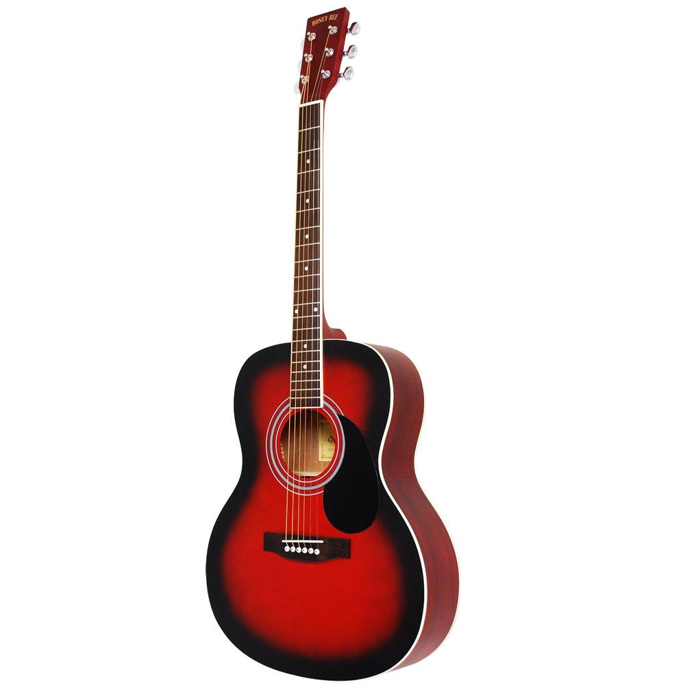 HONEY BEE アコースティックギター フォークギタータイプ F-15M/RDS マットフィニッシュモデル B0798GLVFJ マットフィニッシュ/レッドSB