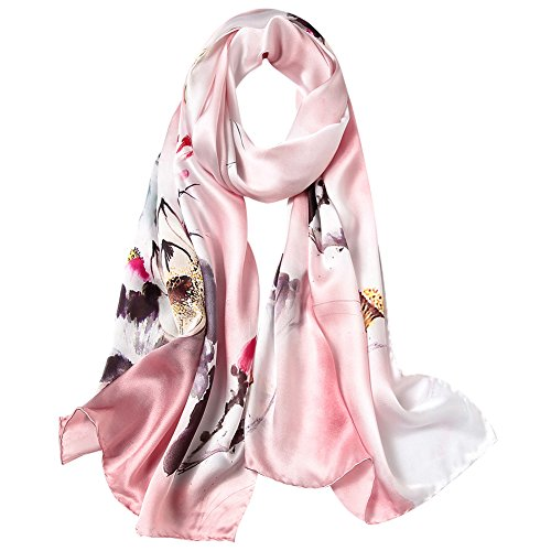 Women's Silk Scarf Fashion Sunscreen Shawls Wraps for Headscarf&Neck
