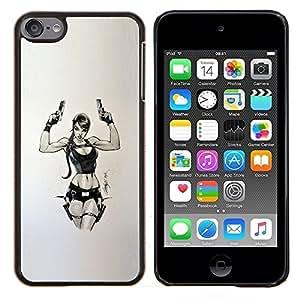 Eason Shop / Premium SLIM PC / Aliminium Casa Carcasa Funda Case Bandera Cover - Juego de PC del polluelo de Armas - For Apple iPod Touch 6 6th Touch6