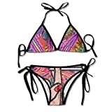 Most Fashion Maker Girls Smoking Weed Art Printing Summer Sexy Two Pieces Bathing Suit