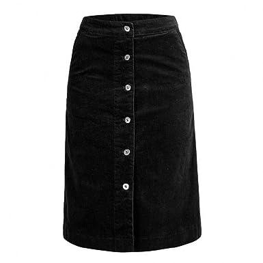 GYYWAN Faldas De Cintura Alta para Mujer Casual A Line Mujer Falda ...