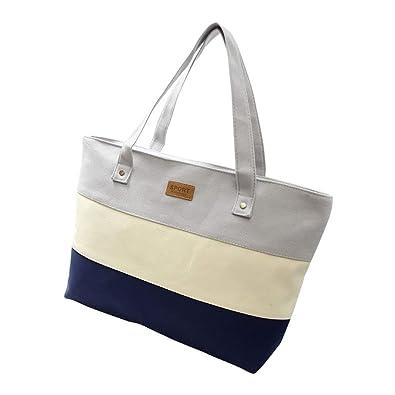 Amazon.com: Ladies Hand Canvas Big Beach Shoulder Women Messenger Tote Bags Female Handbags Famous Brand Sac A Main Femme De Marque Pochette Color Gray: ...