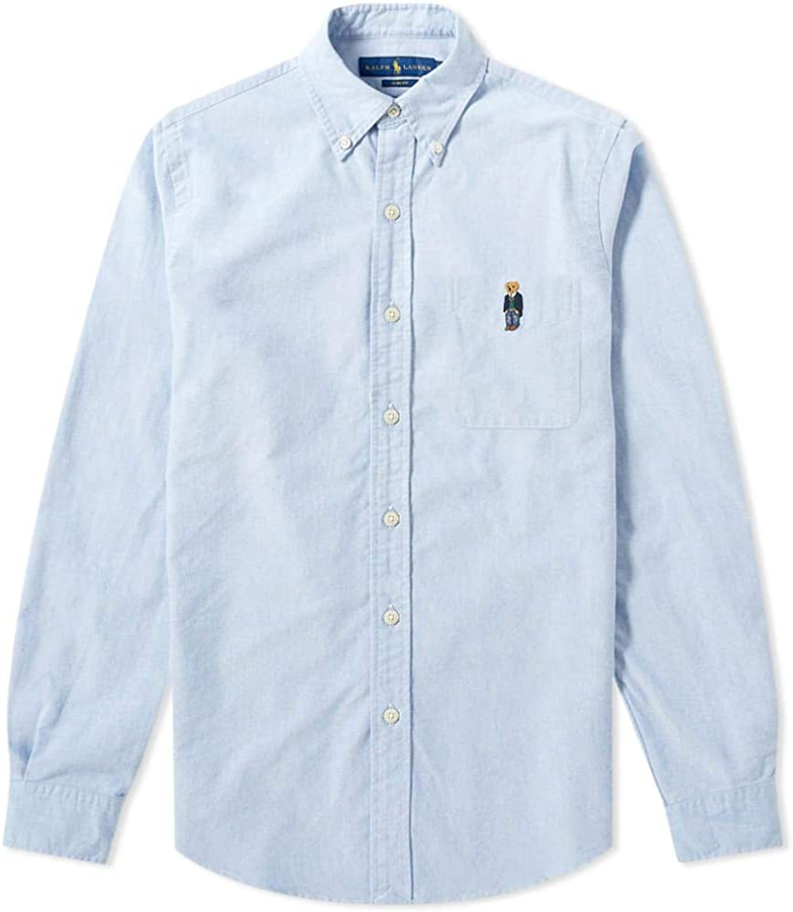 Ralph Lauren Polo Slim Fit Embroidered Bear Button Down Shirt-S ...