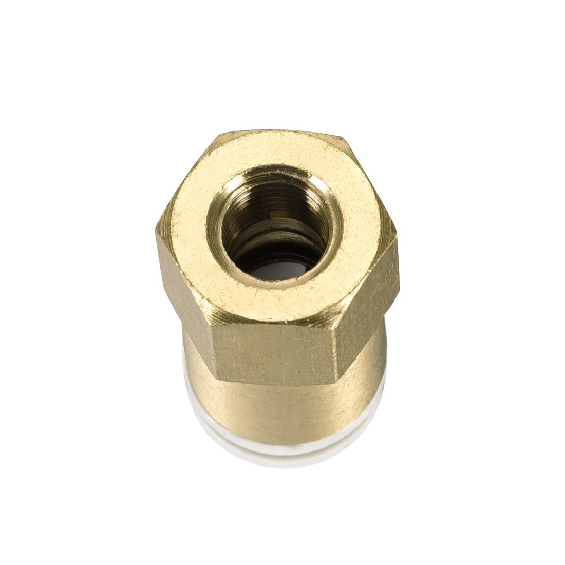 uxcell Push to Connect Tube Fittings 10mm Tube OD x 1//8 PT Female Straight Pneumatic Connecter Pipe Fitting Golden Tone 2Pcs