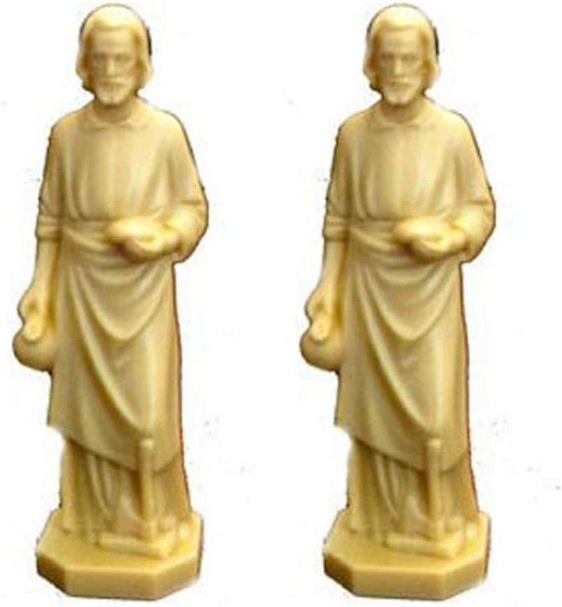 Goldfingers Gifts 2 X St Joseph Statue Home Seller Faith Saint House 3.5 Inch Figurine New
