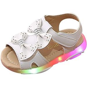Moonuy Toddler Filles Mode Cristal Sandales Nouveau-N/é B/éb/é LED Lumi/ère Lumineuse Courir Sport Sandales Infantile Filles Bretelles Baskets Chic Chaussures pour 1-6 Ans