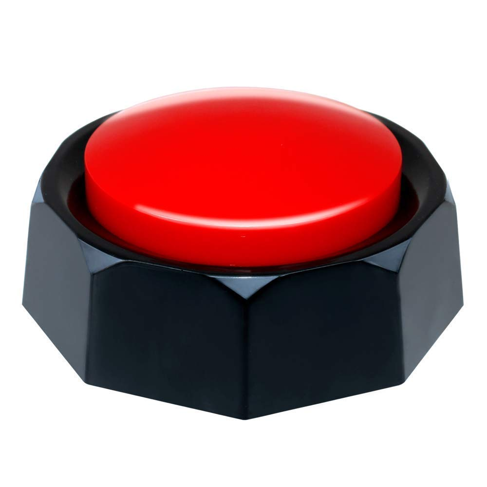 Neutral Recordable Button Sound Button Easy to Use Material Safety,Recording Button Red+Black Suitable for Game Interaction,Talking Button 30S Recording Upgrade Voice Button