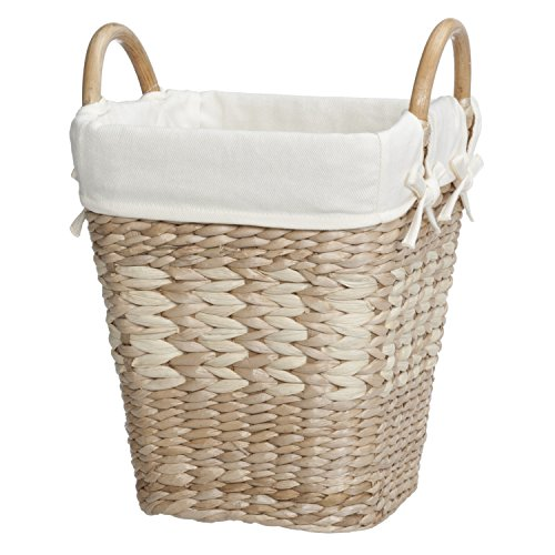 Natural Maize Storage Basket (Creative Bath Lined Waste Basket , Natural/Bleach)