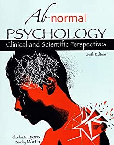abnormal psychology (clinical and scientific perspectives) 6th edition