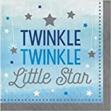 Hoffmaster Group 322231 12 by 16 Count Twinkle One Little Star Boy 2 Ply Lunch Napkins - Case of 12