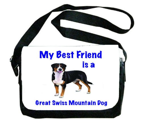 My Best Friend is Greater Swiss Mountain Dogメッセンジャーバッグ B00EXC1CJY