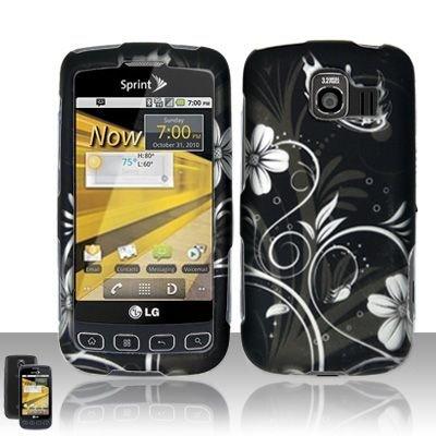 (Cell Phone Case Cover Skin for LG LS670 Optimus S (White Flowers) - Sprint,US Cellular,Virgin Mobile)