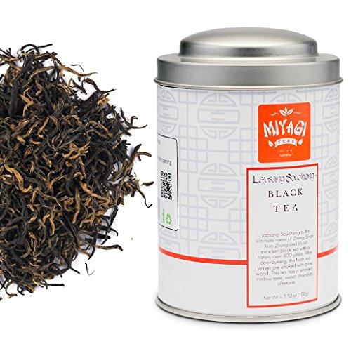 Lapsang Souchong Premium Black Tea - Loose Leaf - 3.52oz (100g)/tin (100g Loose Tea Tin)