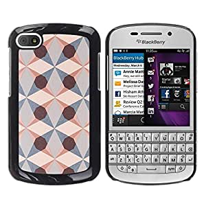 Be Good Phone Accessory // Dura Cáscara cubierta Protectora Caso Carcasa Funda de Protección para BlackBerry Q10 // Geometrical Art Pattern Structure Diamond