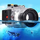 PULUZ 40m Underwater Depth Diving Case Waterproof Camera Housing for Sony RX100 III
