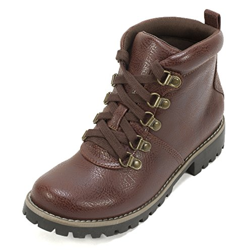 Cliffs by White Mountain Women's Port Hiker Boot,Chestnut Smooth,US 9.5 M (Chestnut Smooth Footwear)