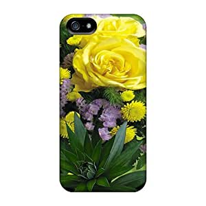 Durable Bouquet Flowers Back Case/cover For Iphone 5/5s