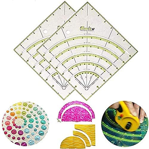 Arc Ruler Curved Ruler Cloth Art Round Fan Ruler Cutting DIY Quilting Ruler Manual Puzzle Ruler Acrylic Ruler