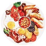 BATTILO HOME Novelty Breakfast Food Blanket Funny
