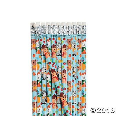 Fall Animal Pencils - 24 pcs