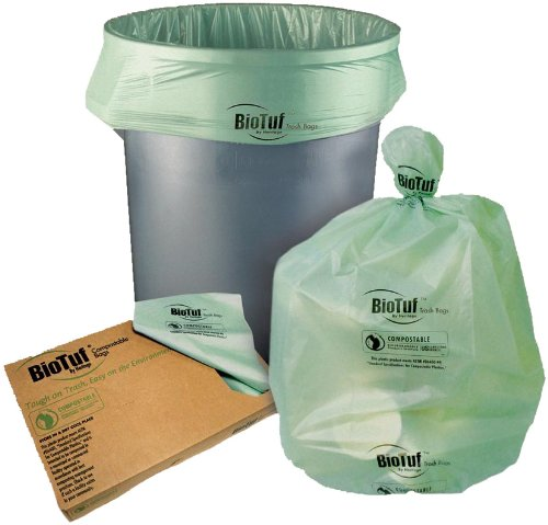 HERY8448YER01 - 48 GAL BIO TUF CAN LINERLT. GREEN 100/CASE by Heritage Products (Image #1)