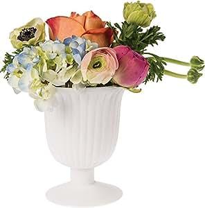 Luna bazaar vintage milk glass vase 5 inch for Decorate with flowers amazon