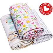 Swaddling Blankets Organic Cotton Baby Girl Boy Newborn Large Light 3 Baby Receiving blankets