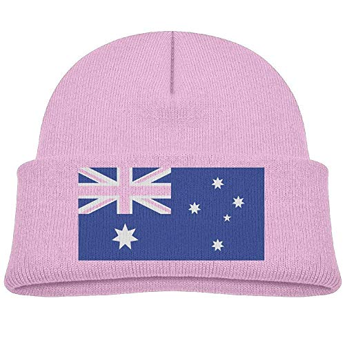 - heneaop Australia Flag Baby Boy Winter Warm Hat, Lovely Knit Beanies Cotton Cap for Girls and Boys Pink