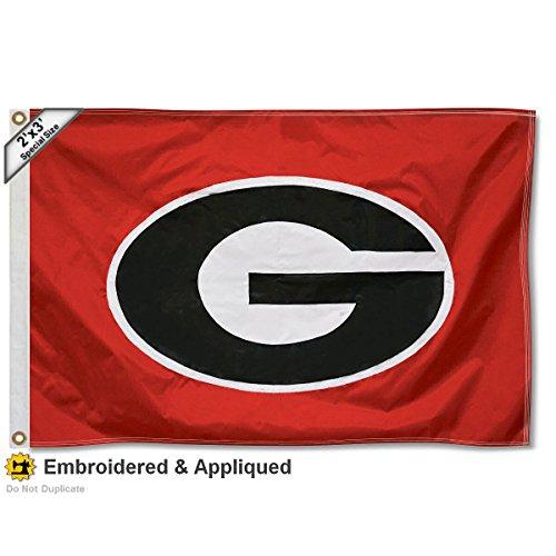 3' X 5 Bulldog (Georgia Bulldogs 2x3 Foot Embroidered Flag)