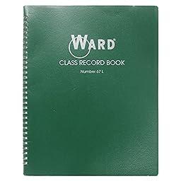 Ward 67L Class Record Book, 38 Students, 6-7 Week Grading, 11 x 8-1/2, Green (HUB67L)