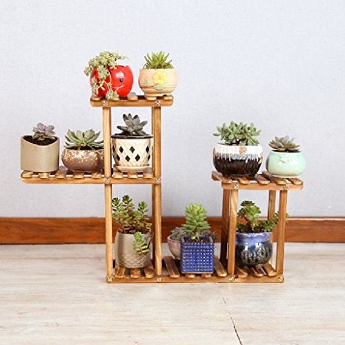 Desktop Solid Wooden Flower Stand Mini Storage Set Folding Flower Stand LWH: 432150cm by LITINGMEI Flower rack
