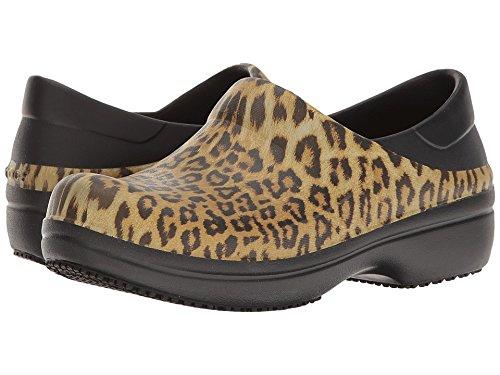 crocs Women's Neria Pro Graphic Clog W Mule, Black, 9 M US