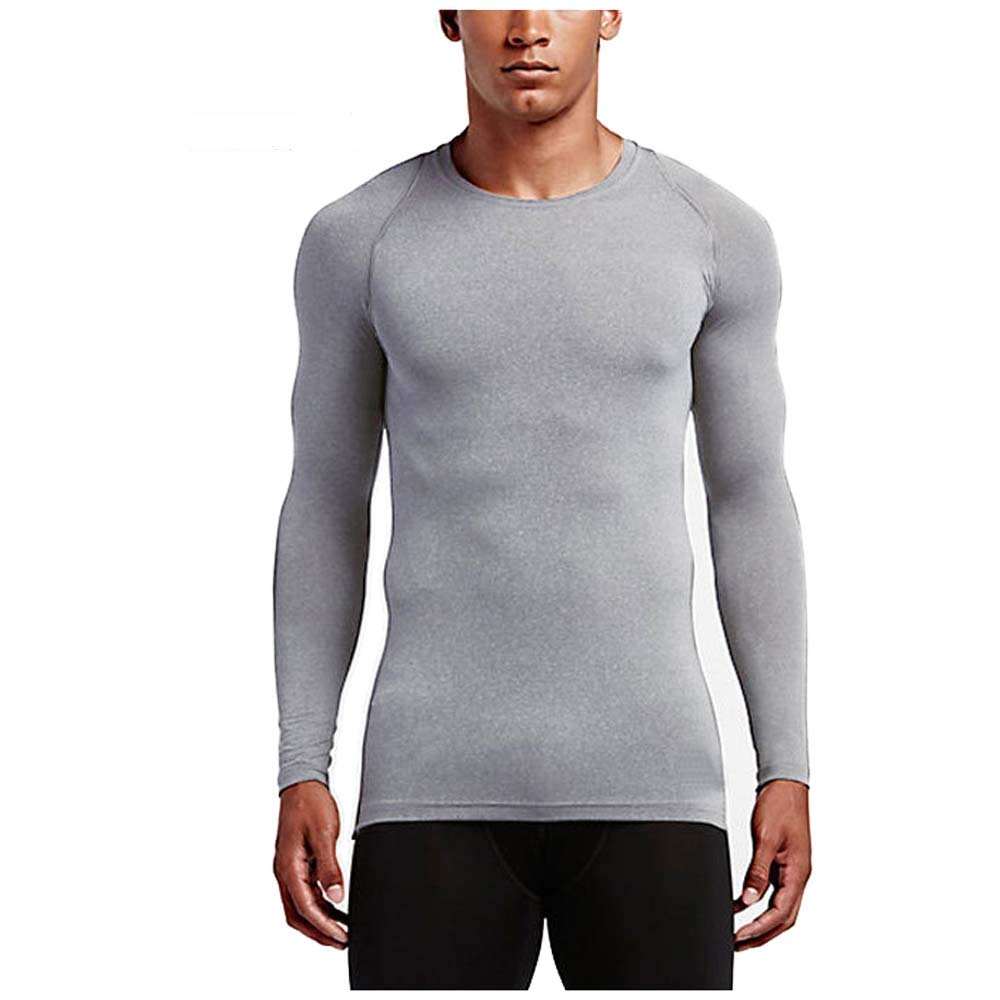 Tsoaduo Mens Sports Clothes Quick-Drying Grey XXL