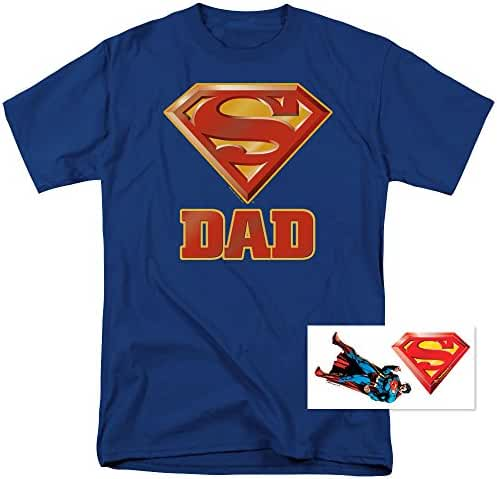 Superman Superdad Logo for Fathers T Shirt & Exclusive Stickers