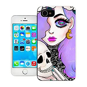 A fashionable woman hug skull unique patter durable topsamsung galaxy s4 cases protection shell for sale by LeTian Case