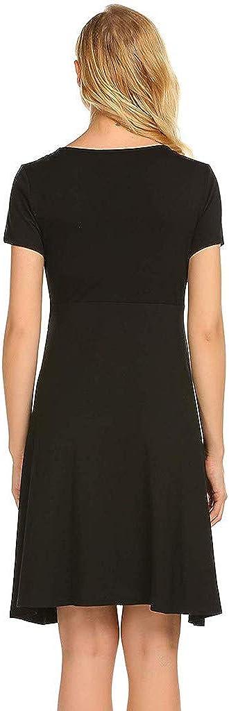 ZOMUSAR Maternity Dress Maternity Plus Size Long Sleeve V-Neck Soft Nursing Nightgown Sleepwear Robe