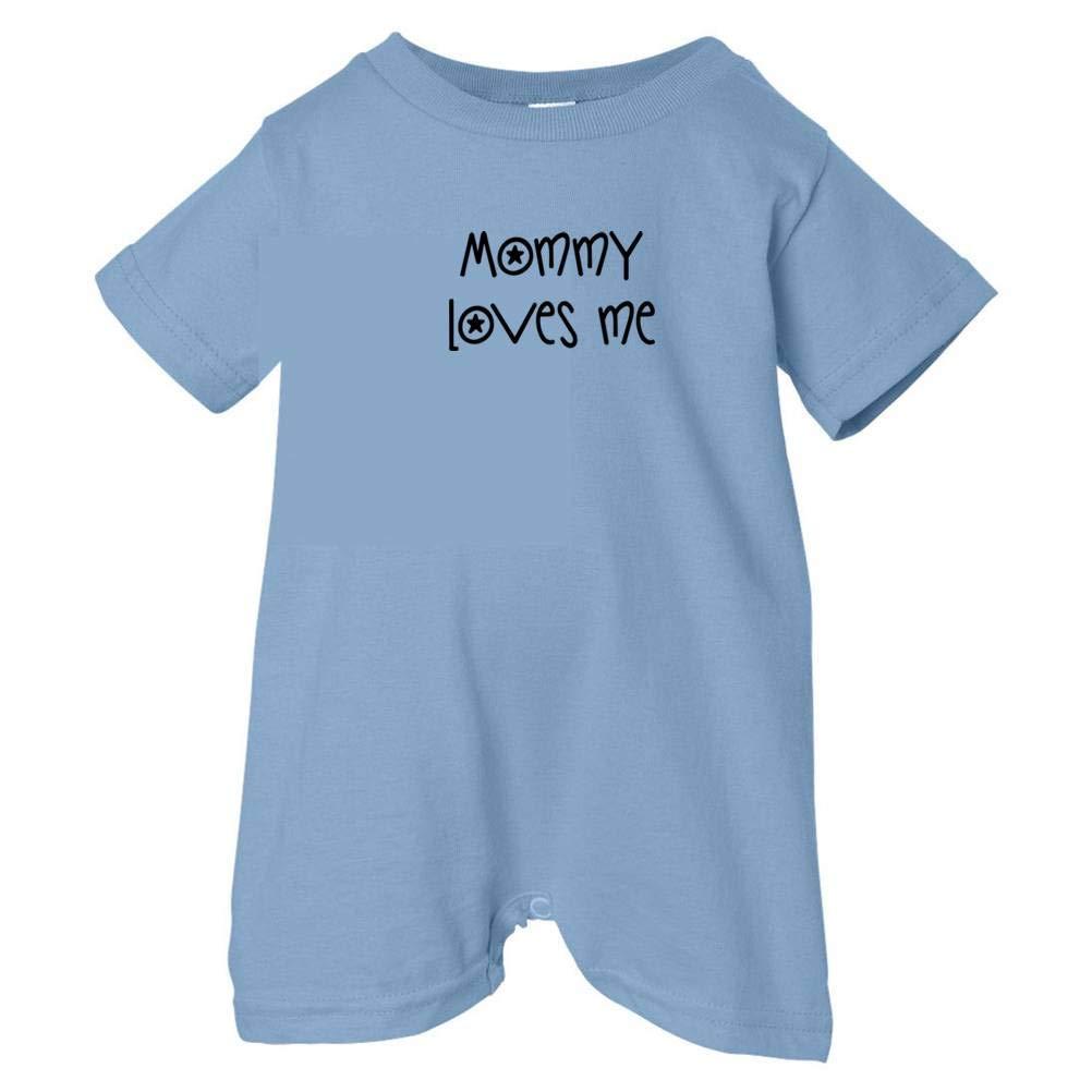 Lt. Blue, 24 Months Unisex Baby Mommy Loves Me T-Shirt Romper So Relative