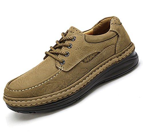 De Mano Hechos Otoño Libre CAMEL Al Invierno CROWN con Cordones Caminar para Aire Scrub Bronce a Viajes Hombres Casuales Zapatos Zapatos Trabajo Zapatos Leather Xw7vqvxBU