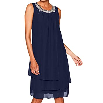 2d9a08d99b0728 Bluestercool Robes de Soirée Femme Sexy Grande Taille Paillettes ...
