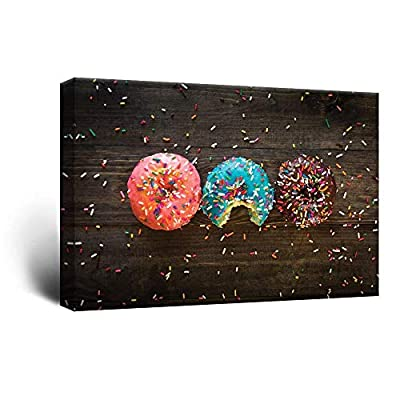 Donuts and Colorful Glaze Toppings - Canvas Art