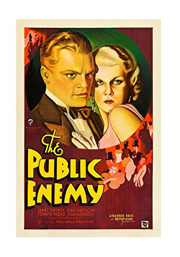 James Cagney - The Public Enemy - Jean Harlow - Mini Art Print Poster A