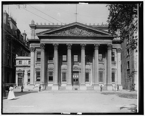 photo-bankmontrealfinancial-institutionsbuildingsstreetsquebeccanadac1900
